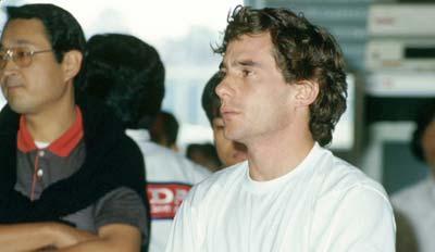 Ayrton Senna in Suzuka 1990