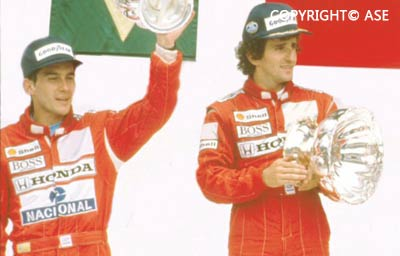 Senna and Prost podium 1988