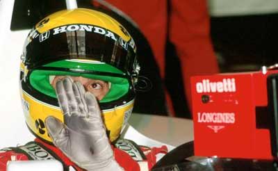 Ayrton Senna at Spa Francorchamps in 1990