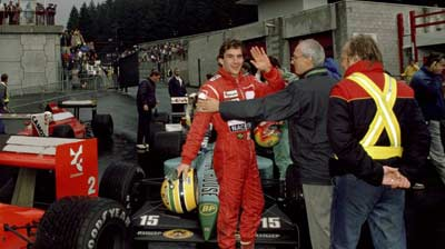 Ayrton Senna at Spa Francorchamps 1989