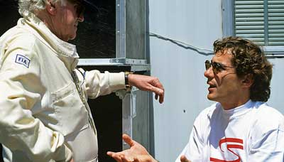 Ayrton Senna and Sid Watkins