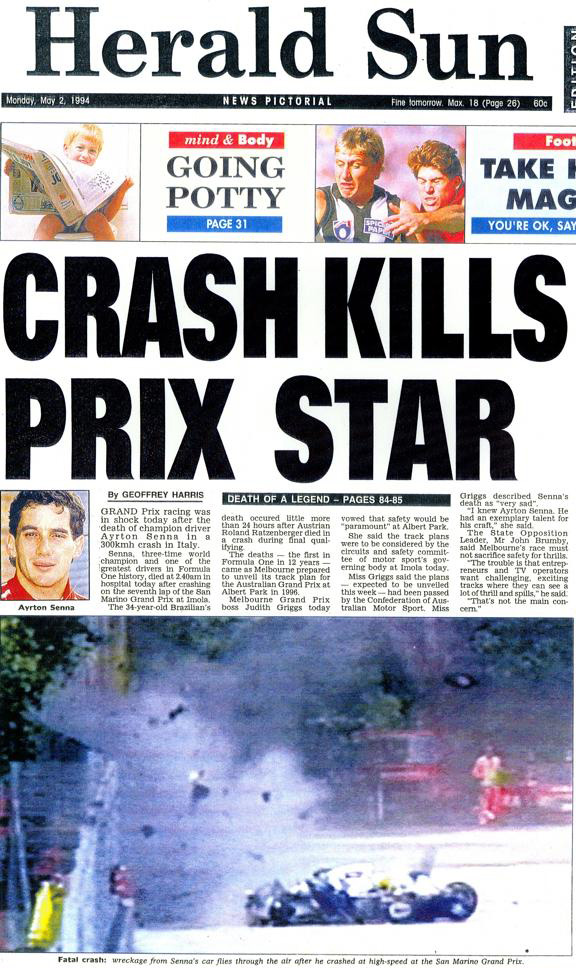Ayrton Senna - Herald Sun