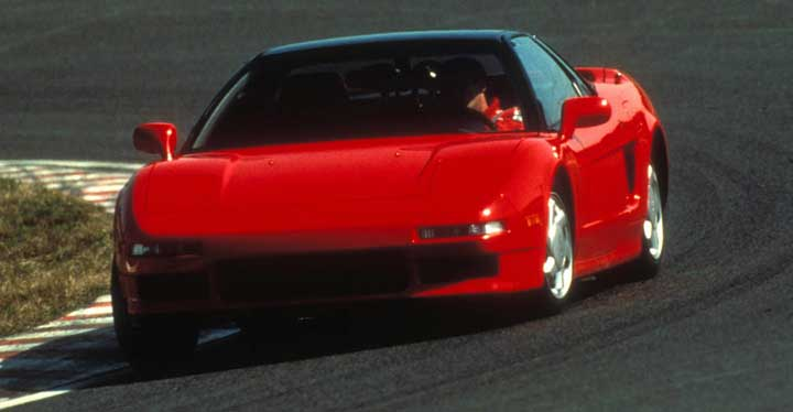 Senna in Testing of Honda NSX