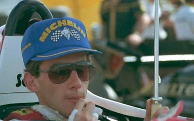 Ayrton Senna in USA in 1984