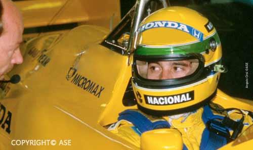 Ayrton Senna in Portugal 1987