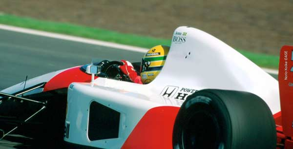 Ayrton Senna in Spain in 1991