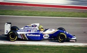 Ayrton Senna in his Williams Renault