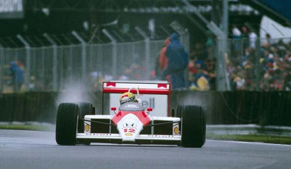 Ayrton Senna in Silverstone in 1988
