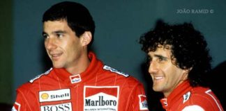 Ayrton Senna and Alain Prost