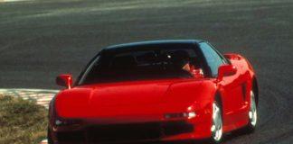 Ayrton Senna testing Honda NSX in 1989