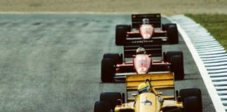 Ayrton Senna in Lotus in 1987