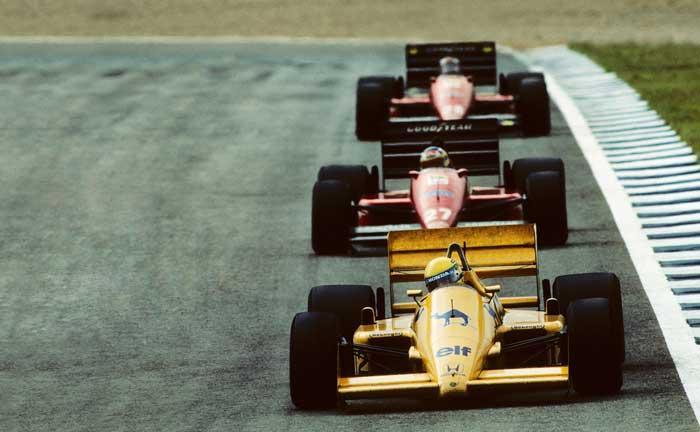 Ayrton Senna in Lotus in 1987
