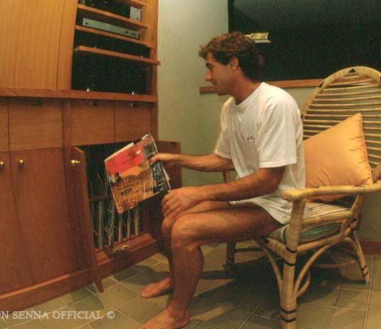 Ayrton Senna in Japan in 1993