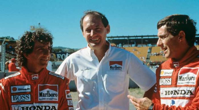 Ayrton Senna and Ron Dennis in 1988
