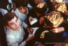 Rookie Ayrton Senna in 1984
