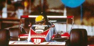 Ayrton Senna in Africa in 1984