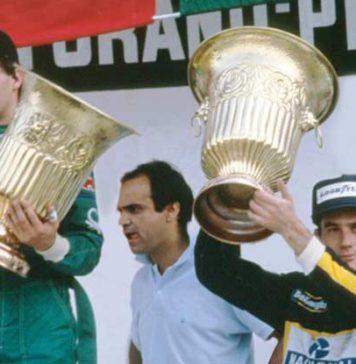 Ayrton Senna in Mexico 1986