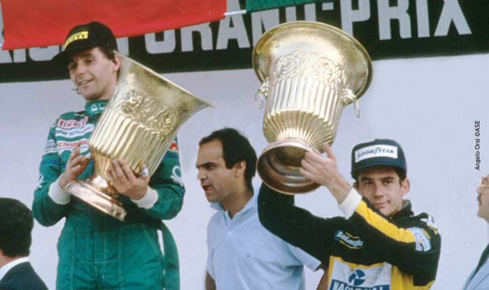 Ayrton Senna in Mexico 1986