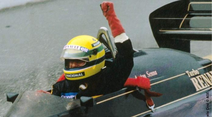 Ayrton Senna at Estoril in 1985
