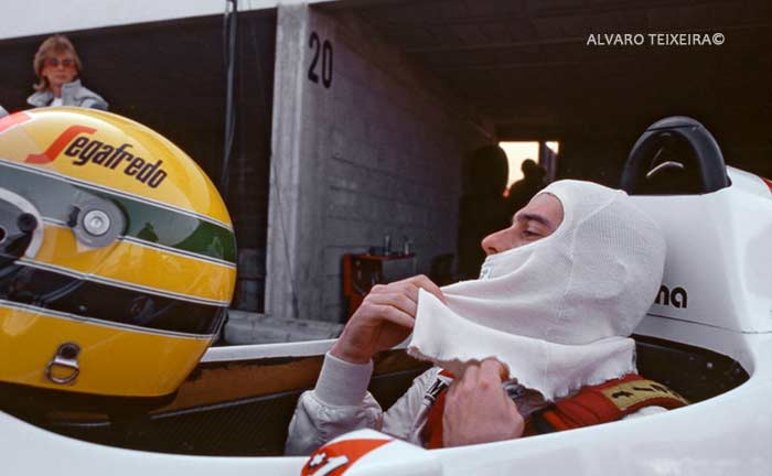 Ayrton Senna in Toleman in 1984