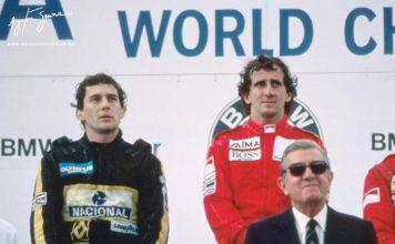 Austrian GP podium 1985