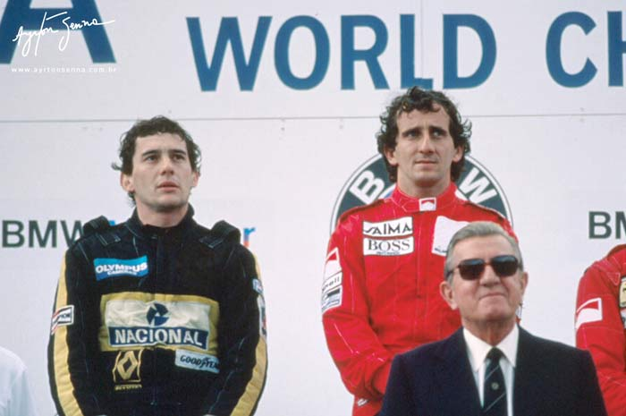 Austrian GP podium 1985