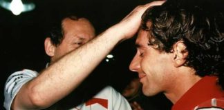 Ayrton Senna and Ron Dennis