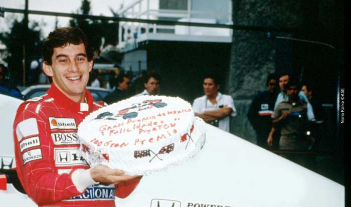 Ayrton Senna at Mexico Grand Prix 90