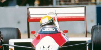 Ayrton Senna in Adelaide in 1988