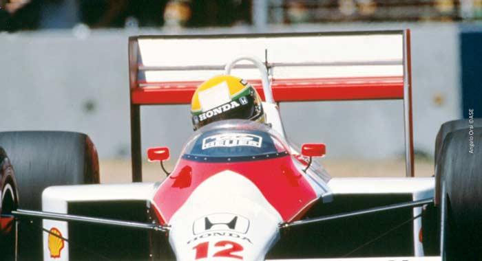 Ayrton Senna in Adelaide in 1988