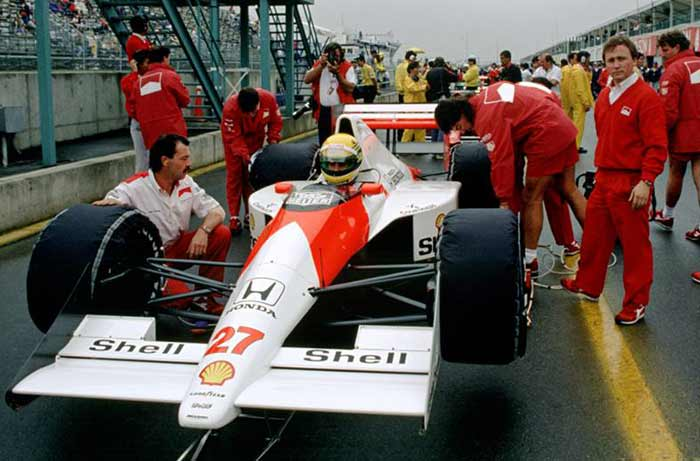 Ayrton Senna in 1990