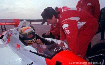 Ayrton Senna Testing Penske 1992