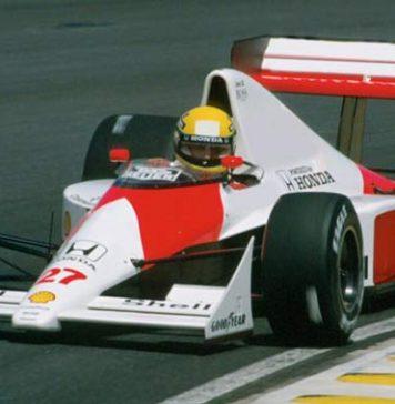 Ayrton Senna at Interlagos in 1990