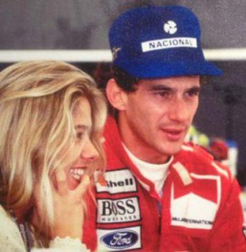 Ayrton Senna and his girlfriend