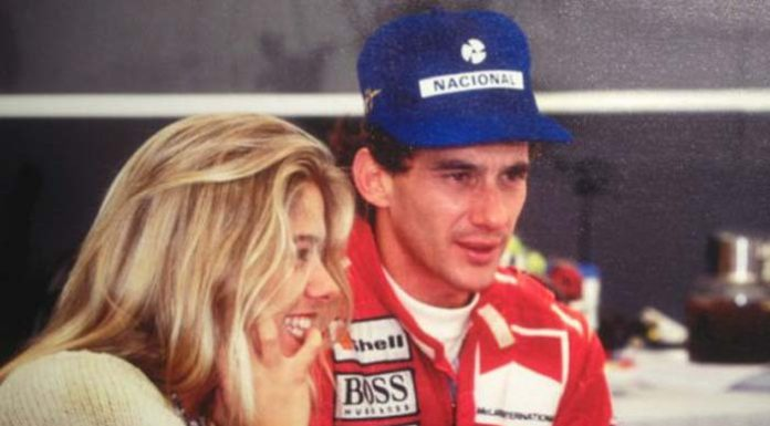 Ayrton Senna and his girlfriend