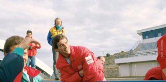 Ayrton Senna in Spain in 89