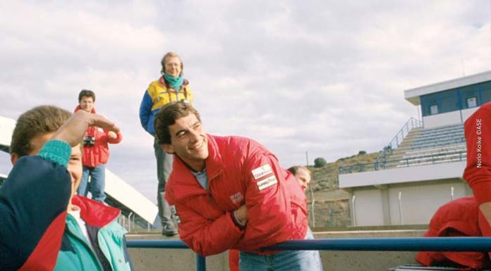 Ayrton Senna in Spain in 89