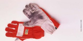 Ayrton Senna's racing gloves