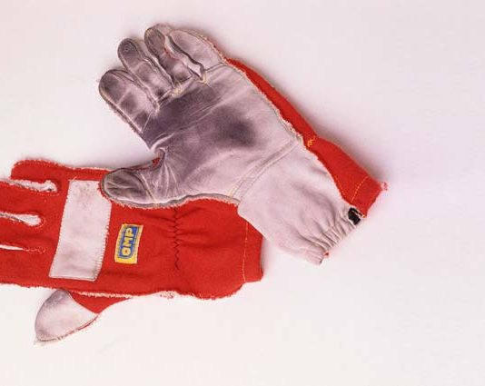 Ayrton Senna's racing gloves