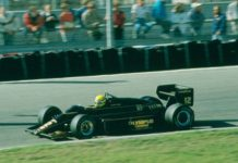 Ayrton Senna in Holland in 1985