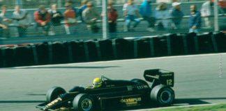 Ayrton Senna in Holland in 1985