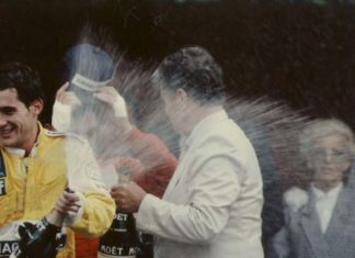 Ayrton Senna at Monaco in 1987