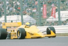 Ayrton Senna at Suzuka in 1987