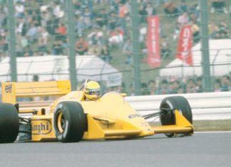 Ayrton Senna at Suzuka in 1987