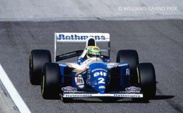 Ayrton Senna in his FW16