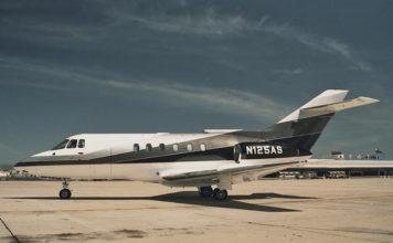 Senna's plane BA 125