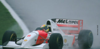 Ayrton Senna at Donington park in 1993