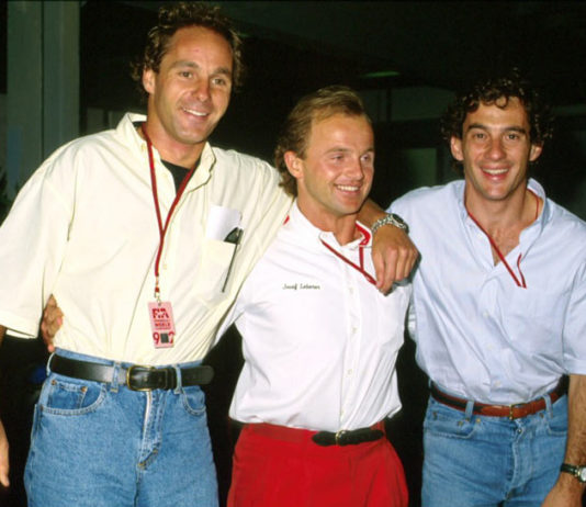 Ayrton Senna and Gerhard Berger