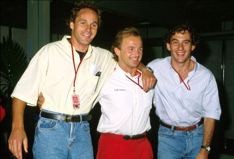 Ayrton Senna and Gerhard Berger