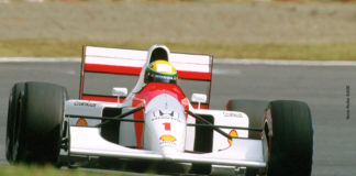 Ayrton Senna at Suzuka in 1992